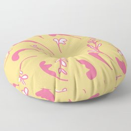 Coral sprigs on gold Floor Pillow