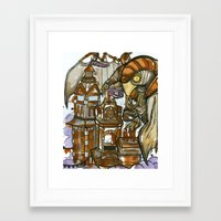 bioshock Framed Art Prints featuring Bioshock Tea by Dara Gold
