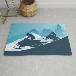 Snowmobile • Winter Sport Rug