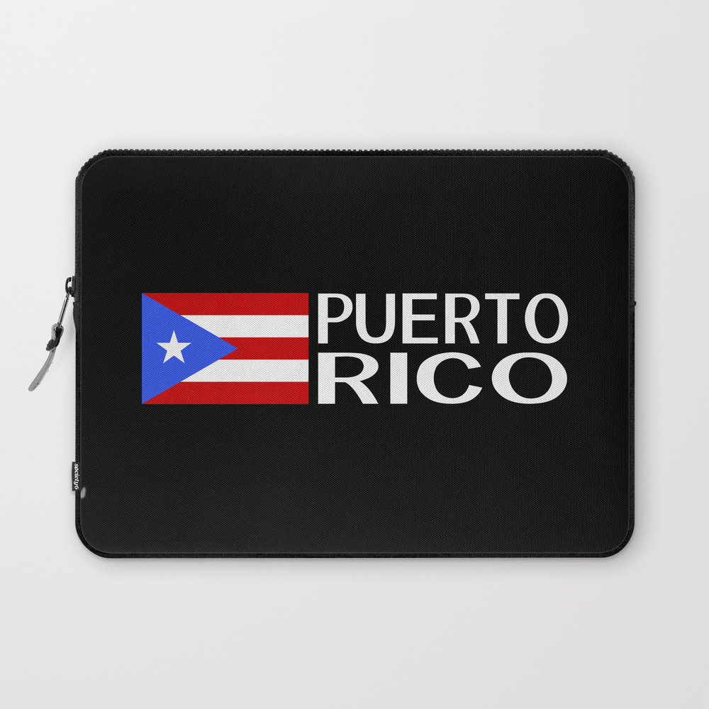 Puerto Rico: Puerto Rican Flag & Puerto Rico Laptop Sleeve LSV8975383