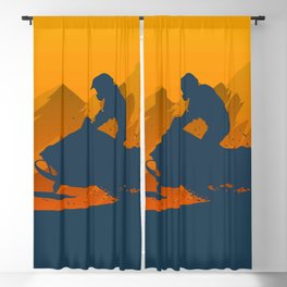 Snowmobile • Winter Sport Blackout Curtain