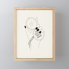 Fck society Framed Mini Art Print