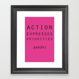 Action Gandhi Quote Framed Art Print