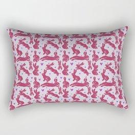 Bunny love - Strawberry edition Rectangular Pillow