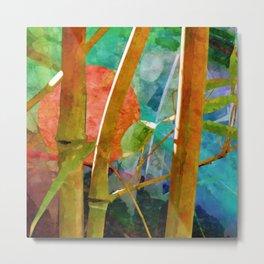 Bamboo with sunset Metal Print