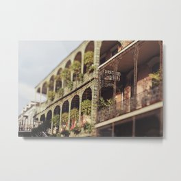 New Orleans Royal Street Balconies Metal Print