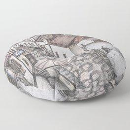 Portugal Market Albufeira Floor Pillow