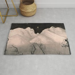 Stars and Heavens in the Heights of the Snow-capped Alpine Mountains by Harald Sohlberg Rug