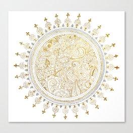 Mandala Justyoga Canvas Print