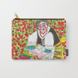 Poppy field at day's end Carry-All Pouch