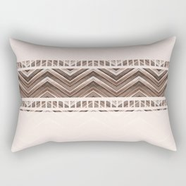Decorative brown stripes on a beige background. Rectangular Pillow