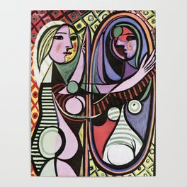 Pablo Picasso Girl before a Mirror 1932 Artwork Reproduction, Tshirts, Prints, Poster, Bags, Men, Wo Poster