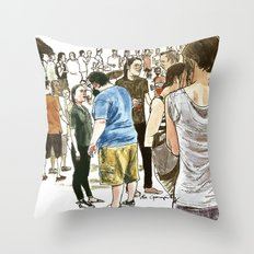After it rained at McCarren Pool, we stopped and stared. I wish the moment lasted forever. Throw Pillow