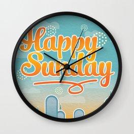 Happy Sunday Wall Clock