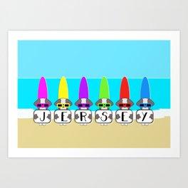 Shih Tzu Surf Jersey Art Print