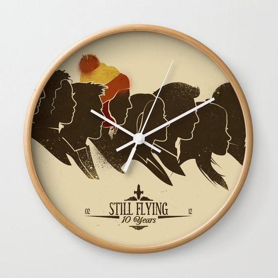 Still Flying Wall Clock