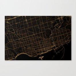 Toronto map, Canada Canvas Print