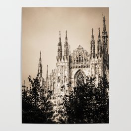 Duomo of Milan, Cathedral in the center of Milan Poster