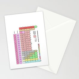 Periodic Table Of  The Elements Stationery Cards