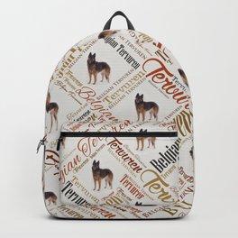 Belgian Tervuren Word Art Backpack