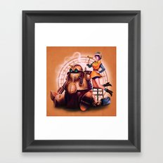 Lucca and Robo Framed Art Print
