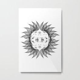 Symmetrical Sun Metal Print