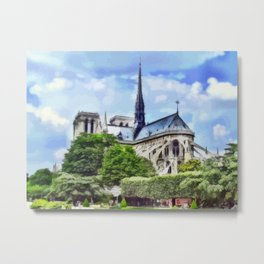 Paris - Kathedrale Notre-Dame Metal Print