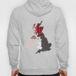 British Isles Fabric Map Art Hoody