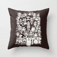 discworld Throw Pillows featuring Point and Click  by Hoborobo