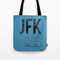 jfk Tote Bags featuring JFK II by 08 Left