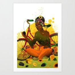 Essentia.Yellow Art Print