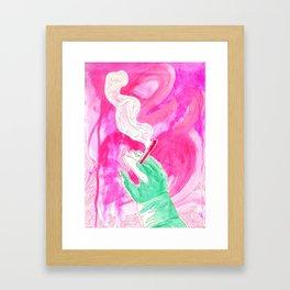 up in smoke Framed Art Print