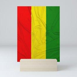 Wrinkled Rastafarian Flag Mini Art Print