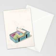 Preparing luggage Stationery Cards