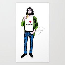 ipster jesus Art Print