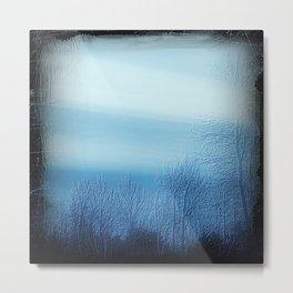 Bleu Noir Dusk Landscape Metal Print