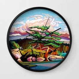 Juniper Islet by Amanda Martinson Wall Clock