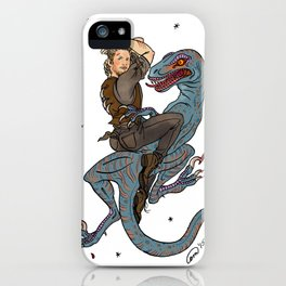 Jurassic World Pin-Ups ~ Owen Grady iPhone Case