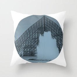 Louvre Fountain Throw Pillow