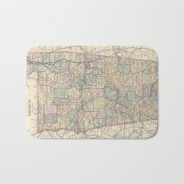 Vintage Map of Alabama (1891) Bath Mat