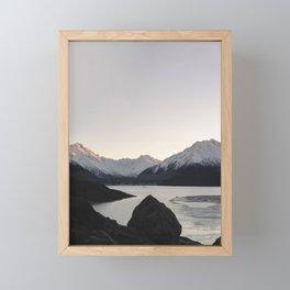 Mountain Series - Tasman Glacier Framed Mini Art Print