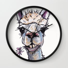 Alpaca Art, Diesel the Alpaca Wall Clock
