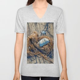 Textures in the Sand by Teresa Thompson Unisex V-Neck