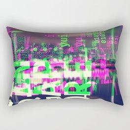 GLITCH CITY #85: Singapore Rectangular Pillow
