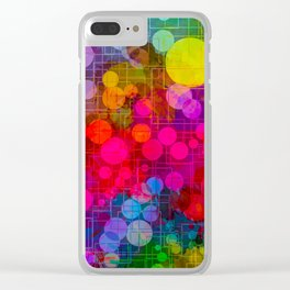 Rainbow Bubbles Abstract Design Clear iPhone Case