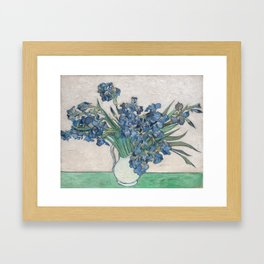 Vincent van Gogh - Irises (1890) Framed Art Print