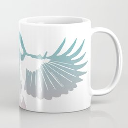 Be Free   White Flying Bird Coffee Mug