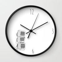 netflix Wall Clocks featuring Netflix and Chill? by Ava Mallett