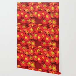 Red and Yellow Flowers Wallpaper