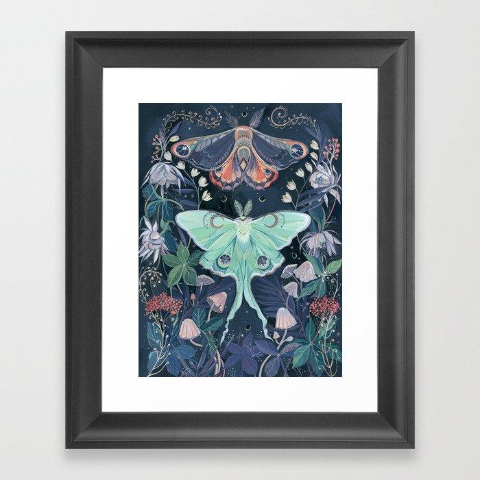Luna Moth Gerahmter Kunstdruck